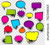 speech bubbles halftone dot...   Shutterstock .eps vector #782348065