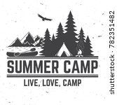 summer camp. vector... | Shutterstock .eps vector #782351482