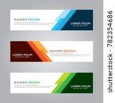 abstract modern banner... | Shutterstock .eps vector #782354686