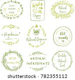 hand drawn labels and elements... | Shutterstock .eps vector #782355112