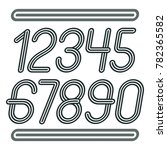 trendy numbers collection.... | Shutterstock . vector #782365582
