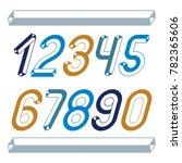 trendy vintage digits  numerals ... | Shutterstock . vector #782365606