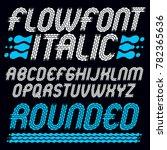 set of trendy pop uppercase... | Shutterstock . vector #782365636