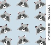 raccoon cartoon design | Shutterstock .eps vector #782366278