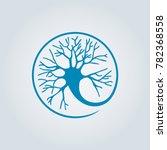 circle neuron vector art.... | Shutterstock .eps vector #782368558