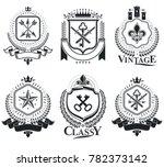 old style heraldry  heraldic... | Shutterstock . vector #782373142