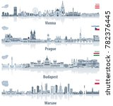 vector abstract city skylines... | Shutterstock .eps vector #782376445
