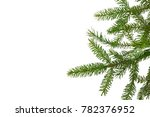 christmas evergreen border with ... | Shutterstock . vector #782376952