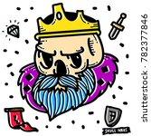 king skull doodle. royal... | Shutterstock .eps vector #782377846