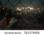 close up color image of a fence ...   Shutterstock . vector #782379808