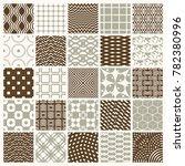 set of endless geometric... | Shutterstock . vector #782380996