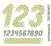 numbers  modern numerals set.... | Shutterstock . vector #782383402