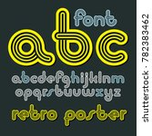 lowercase funky disco alphabet...   Shutterstock . vector #782383462