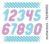 numbers  modern numerals set.... | Shutterstock . vector #782384002