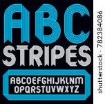 set of trendy capital alphabet ... | Shutterstock . vector #782384086