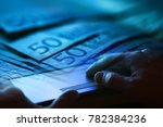 man hand on a laptop keyboard.... | Shutterstock . vector #782384236