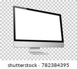 realistic 3d computer left view ... | Shutterstock .eps vector #782384395