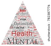 conceptual mental health or... | Shutterstock . vector #782387776