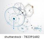 mechanical scheme  engineering... | Shutterstock . vector #782391682