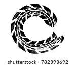round tire track.grunge tire... | Shutterstock . vector #782393692