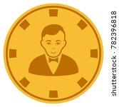croupier dealer golden casino... | Shutterstock .eps vector #782396818