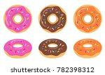 colorful pink  chocolate ... | Shutterstock .eps vector #782398312