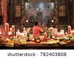 people praying and wishing a... | Shutterstock . vector #782403808