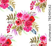 beautiful bright floral... | Shutterstock . vector #782404162