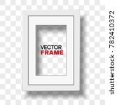 vertical a4 white certificate... | Shutterstock .eps vector #782410372