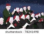 ,active,age,aging,celebrate,celebration,choir,christmas,christmas hats,christmas star,clothing,color,concert,elderly,event