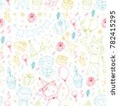 birthday party kindergarten... | Shutterstock .eps vector #782415295