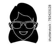 woman face with sunglasses | Shutterstock .eps vector #782423128