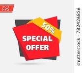 50  off sale discount label.... | Shutterstock .eps vector #782426836