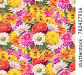 seamless colorful  floral... | Shutterstock . vector #782427916