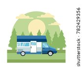 caravan car vehicle in the... | Shutterstock .eps vector #782429356
