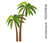 tree palms isolated | Shutterstock .eps vector #782429818