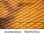 red roof temple tile pattern ... | Shutterstock . vector #782442916