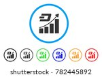 dash growth trend rounded icon. ... | Shutterstock .eps vector #782445892