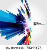 abstract 3d technology lines... | Shutterstock .eps vector #78244627