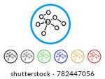 bitcoin network nodes rounded... | Shutterstock .eps vector #782447056