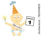 happy new year calendar baby | Shutterstock . vector #782454835