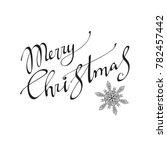 merry christmas  text... | Shutterstock . vector #782457442