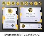 qualification certificate of... | Shutterstock .eps vector #782458972