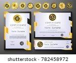 qualification certificate of... | Shutterstock .eps vector #782458972