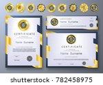 qualification certificate of... | Shutterstock .eps vector #782458975