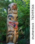 a totem pole in vancouver ... | Shutterstock . vector #782459266