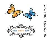 butterflies | Shutterstock .eps vector #78247609