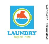 laundry logo  emblems and... | Shutterstock .eps vector #782480596