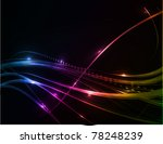 abstract glowing lines of light ... | Shutterstock .eps vector #78248239