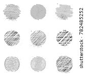 set of vector elements. circles.... | Shutterstock .eps vector #782485252